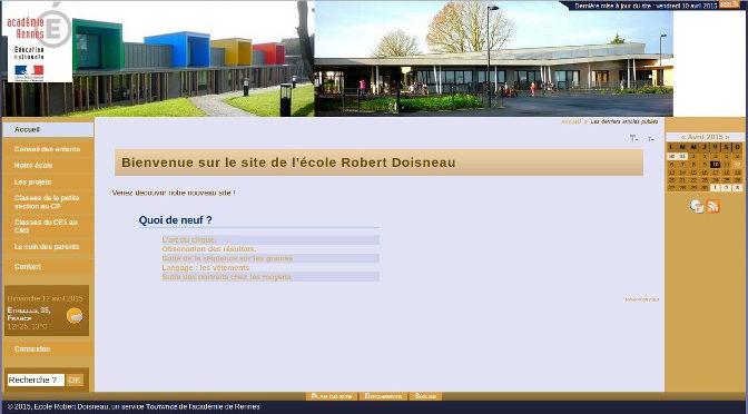 Nouveau site internet de l'école Doisneau Etrelles